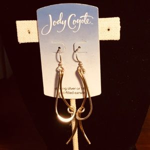 """Jody  Coyote unique 3"""" earrings"""